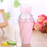Insulated Plastic Tumbler Straw Cup Macaron Water Bottles