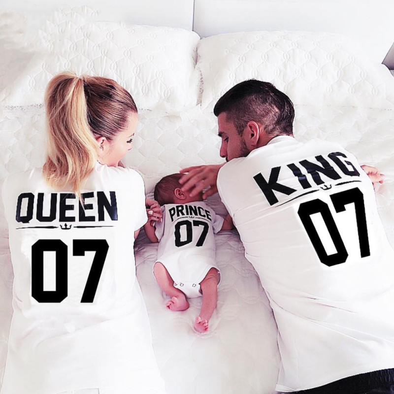 Matching Family Back Prints King Queen Prince Princess 07 T-shirts