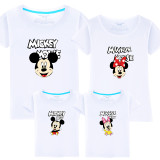 Matching Family Prints Mickey Mouse Minney T-shirts