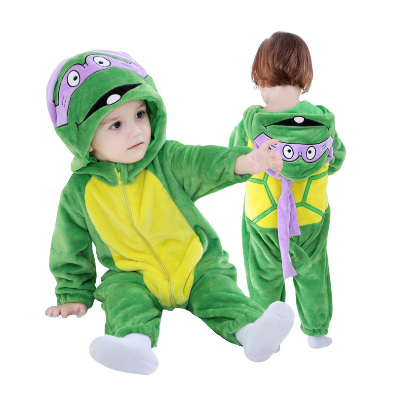 Baby Green Teenage Mutant Ninja Turtles Onesie Kigurumi Pajamas Kids Animal Costumes for Unisex Baby