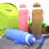 Collapsible Water Bottle Free 600ML Food-Grade Silicone Portable Water Bottles