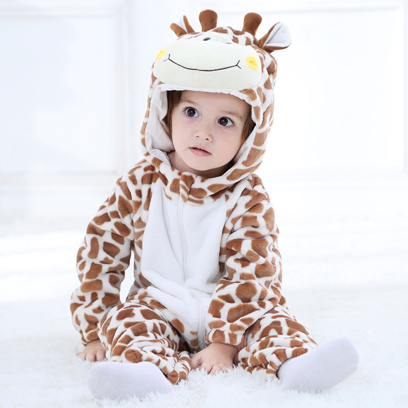 Baby Giraffe Onesie Kigurumi Pajamas Kids Animal Costumes for Unisex Baby