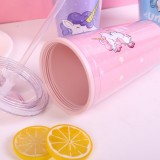 Insulated Plastic Tumbler Straw Cup Unicon Water Bottles