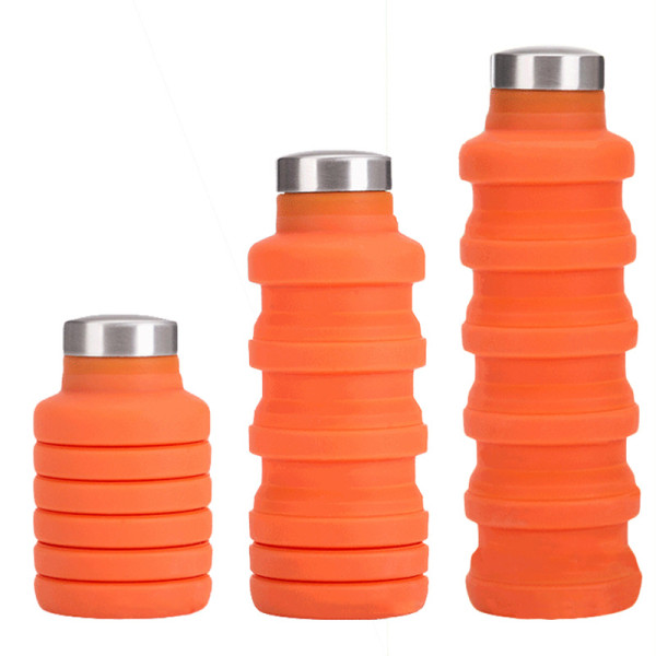 Collapsible Water Bag Free 550ML Food-Grade Silicone Portable Water Bottles