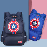 Primary School Backpack Bag Captain America Boy Lightweight Waterproof Bookbag