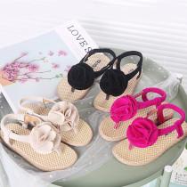 Kid Girl 3D Flower Flip-Flops Beach Slipper Sandals