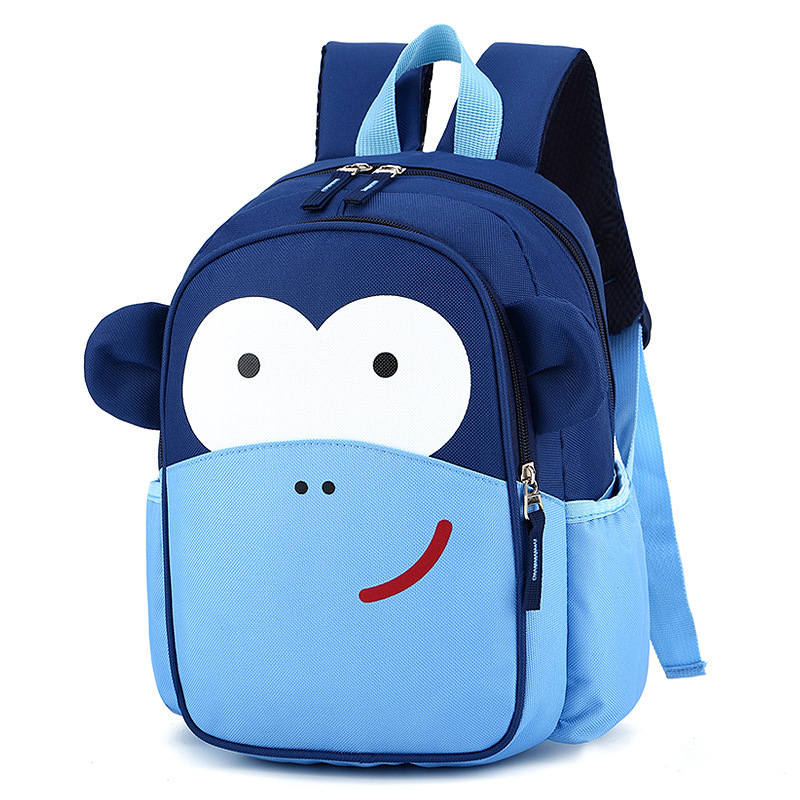 Kindergarten School Backpack Monkey Bag Bookbag For Toddlers Kids