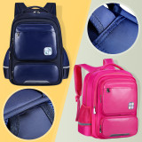 Primary School Backpack Bag Boy PU Lightweight Waterproof Bookbag