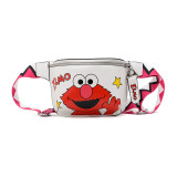 Cartoon Sesame Street Zipper Pocket Crossbody Shoulder Bag