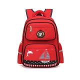 Primary School Backpack Bag Dolphin Sailboat Lightweight Waterproof Bookbag