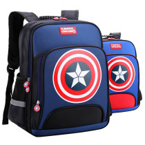 Primary School Backpack Bag Boy Marvel Captain America Lightweight Waterproof Bookbag