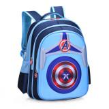 Primary School Shell Backpack Bag Boy Marvel Captain America Lightweight Waterproof Bookbag With Crossbag
