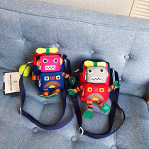 3D Robot Shoulder Crossbody Bags For Toddler Kids
