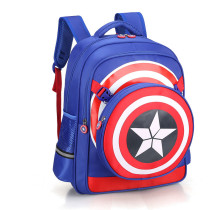 Primary School Backpack Bag Boy Marvel Captain America Lightweight Waterproof Bookbag With Crossbag