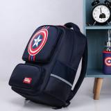 Primary School Backpack Bag Captain America Boy Lightweight Waterproof Bookbag