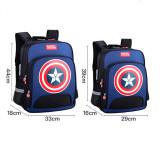 Primary School Backpack Bag Boy Marvel Captain America Lightweight Waterproof Bookbag