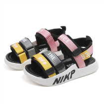 Toddlers Kids Letter Open-Toed Velcro Beach Sandals
