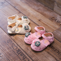 Toddler Kid Girl 3D Flower Hollow Out Velcro Sandals