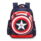Primary School Backpack Bag Boy Marvel Captain America Lightweight Waterproof Bookbag With Crossbag