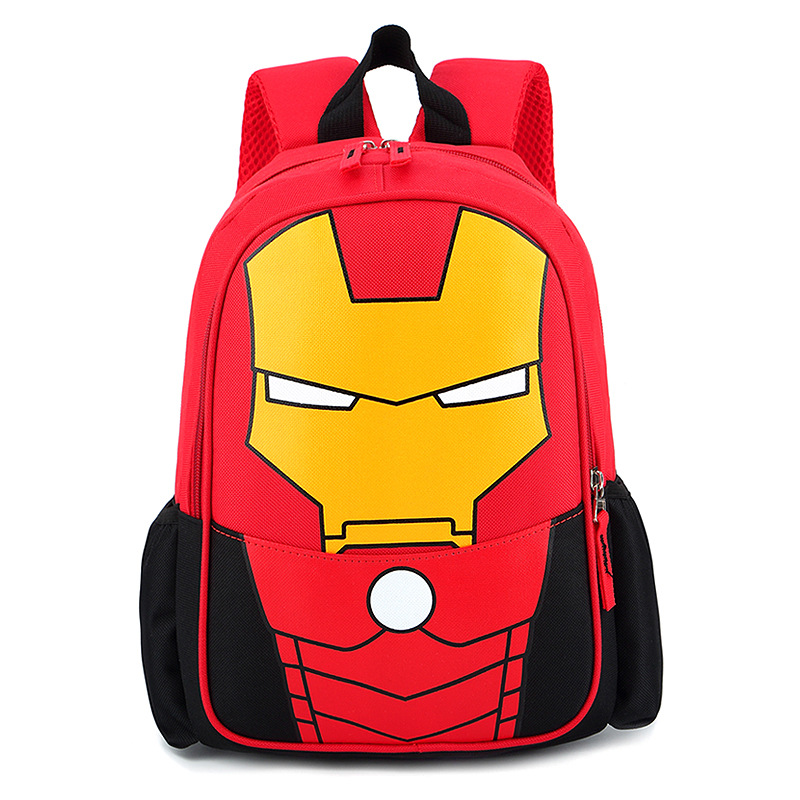 Primary School Backpack Bag Iron Man Lightweight Waterproof Bookbag