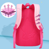 Primary School Backpack Bag Matching Color Lightweight Waterproof Bookbag