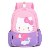 Primary School Backpack Bag Hello Kitty Lightweight Waterproof Bookbag