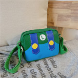 Cartoon Mario Sesame Street PU Shoulder Bags