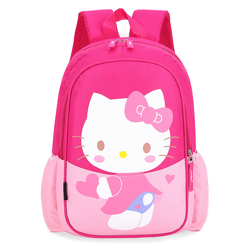 Primary School Backpack Bag Hello Kitty Lightweight Waterproof Bookbag