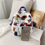 Cartoon Sesame Street Canvas Backpacks Bag For Toddler Kids
