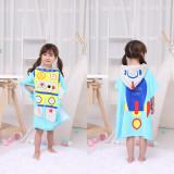 Cute Dinosaur Robot Hooded Bathrobe Towel Bathrobe Cloak For Toddlers & Kids Size 27.5*55inch
