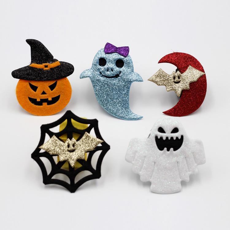 Halloween Slap Bracelets Spider Pumpkin Ghost Slap Bands for Kids Favors