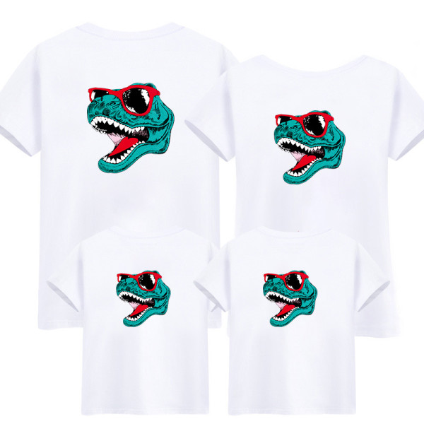 Matching Family Prints Dinosaur Front and Back T-shirts