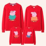 Matching Family Prints Peppa Pig Famliy Sweatshirts Top
