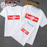 Matching Family Prints Slogan Superme Peppa Pig T-shirts
