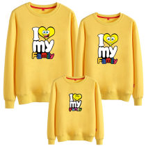 Matching Family Prints Slogan Heart Simpson Famliy Sweatshirts Top