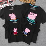 Matching Family Prints Slogan Peppa Pig T-shirts