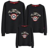 Matching Family Prints Captain America Famliy Sweatshirts Top