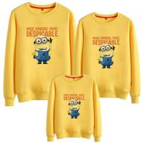 Matching Family Prints Slogan Minions Famliy Sweatshirts Top