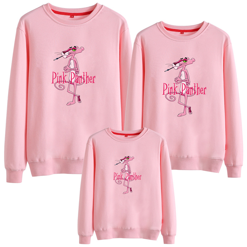 Matching Family Prints Pink Panther Famliy Sweatshirts Top
