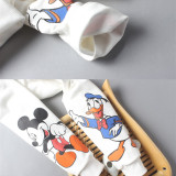 Matching Family Prints Slogan Mickey Mouse and Donald Duck Famliy Sweatshirts Top