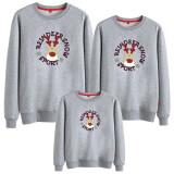 Matching Family Prints Slogan Christmas Deer Famliy Sweatshirts Top