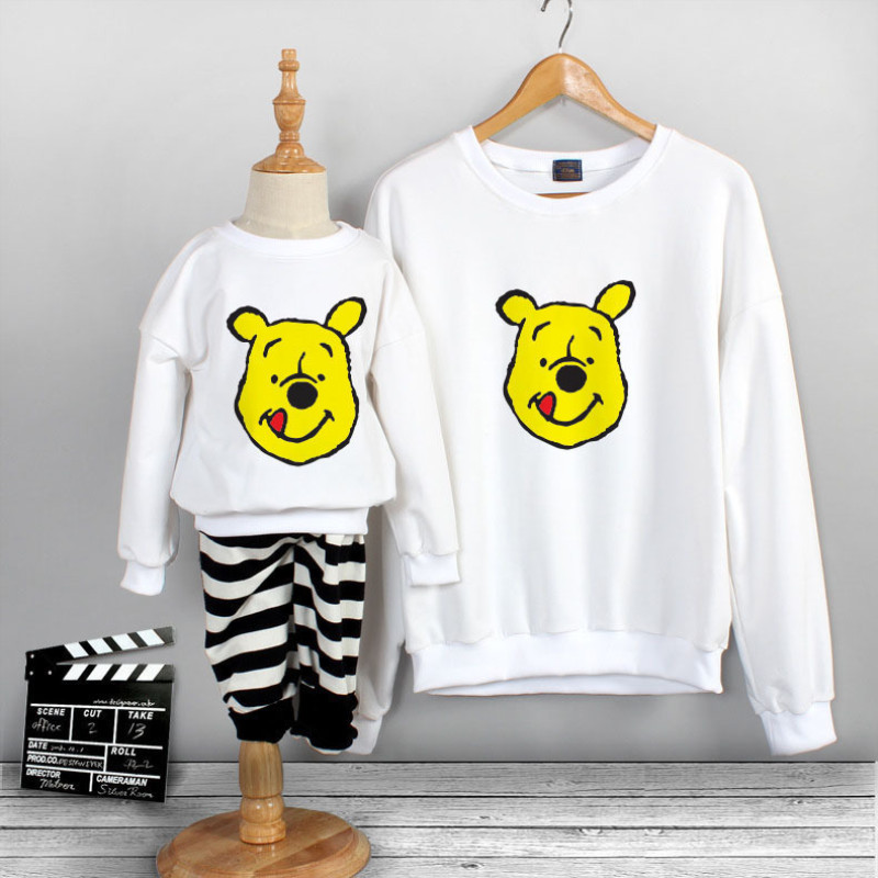 Matching Family Prints Winnie the Pooh Famliy Sweatshirts Top
