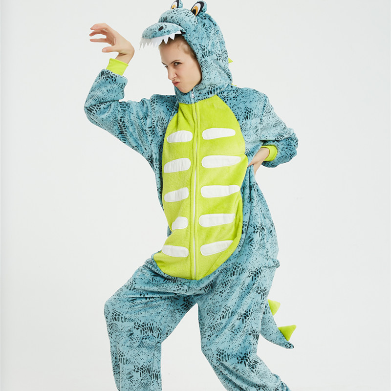 Green 3D Frog Onesie Kigurumi Pajamas Cosplay Costume for Unisex Adult