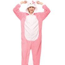 Hello Kitty Cat Onesie Kigurumi Pajamas Cosplay Costume for Unisex Adult