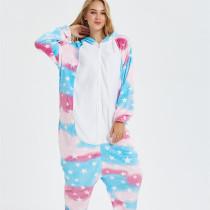 Pink Blue Unicon Onesie Kigurumi Pajamas Cosplay Costume for Unisex Adult