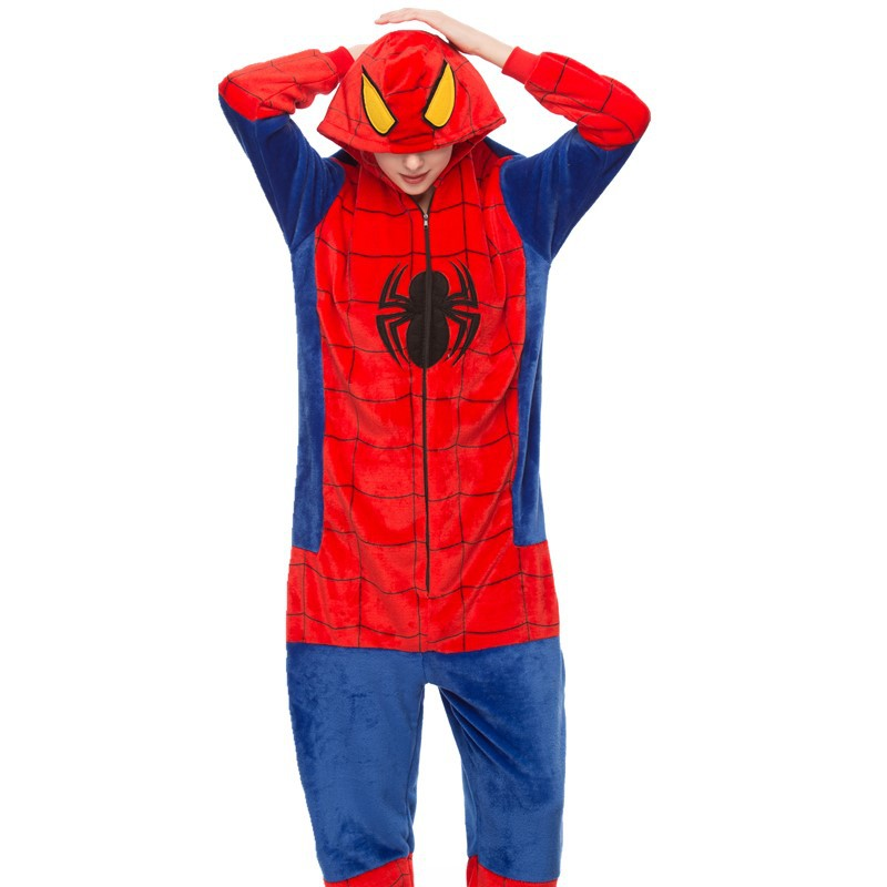Red Spider Onesie Kigurumi Pajamas Cosplay Costume for Unisex Adult
