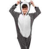 Kids Husky Dog Onesie Kigurumi Pajamas Animal Cosplay Costumes for Unisex Children
