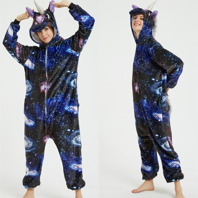 Universe Starry Stars Sky Onesie Kigurumi Pajamas Cosplay Costume for Unisex Adult