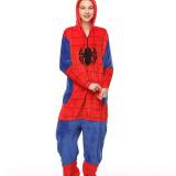 Red Spider Onesie Kigurumi Pajamas Cosplay Costume for Unisex Adult