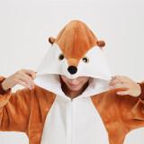 Brown Mongoose Onesie Kigurumi Pajamas Cosplay Costume for Unisex Adult